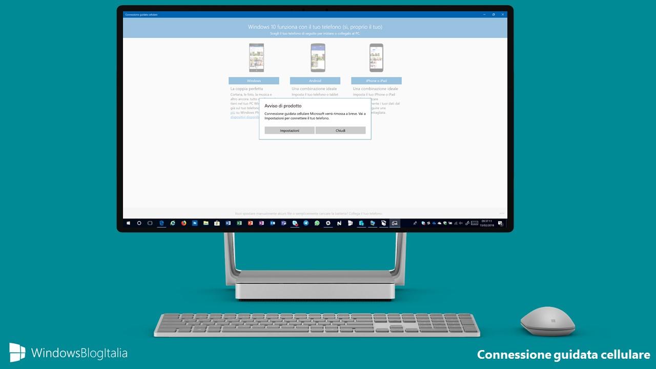 Connessione guidata cellulare Microsoft