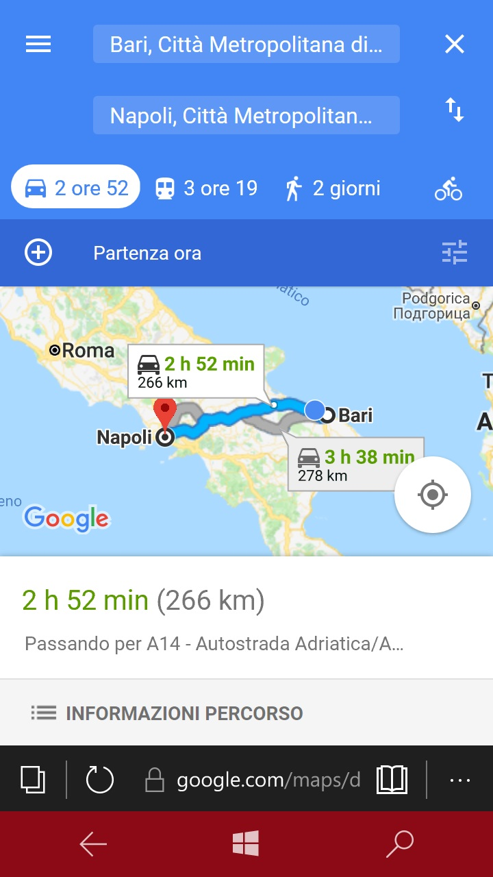 google maps windows mobile