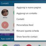 Microsoft Launcher Beta 4.6 widget contatti migliorato