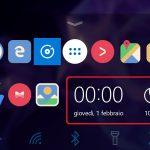 Microsoft Launcher Beta 4.6 widget dock
