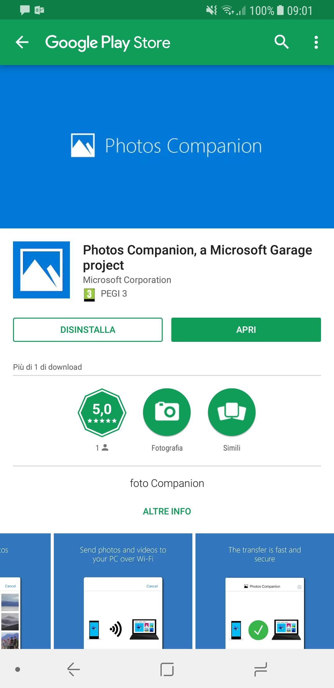 photos companion l 39 app microsoft per trasferire foto e video da android e ios. Black Bedroom Furniture Sets. Home Design Ideas