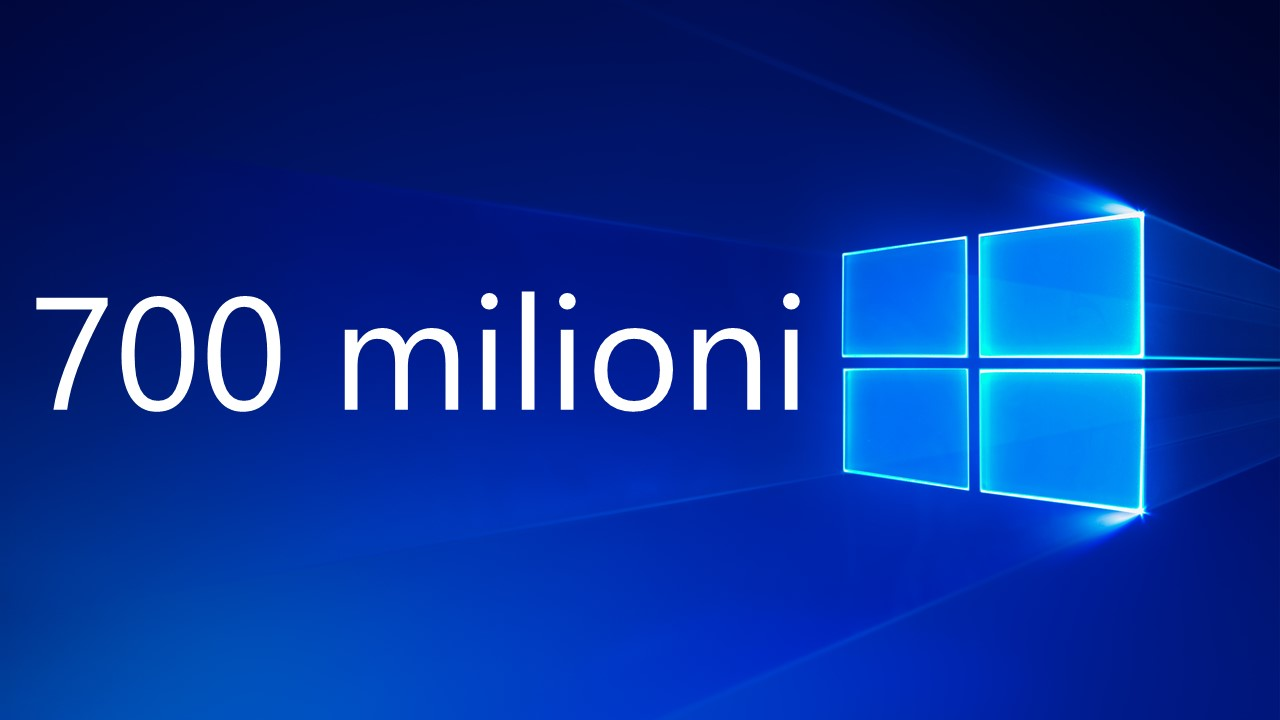 700 milioni di utenti Windows 10