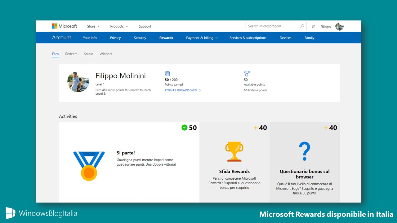 Microsoft Rewards Italia