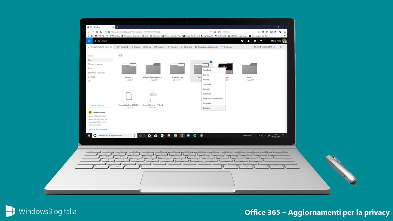 Aggiornamenti privacy Office 365
