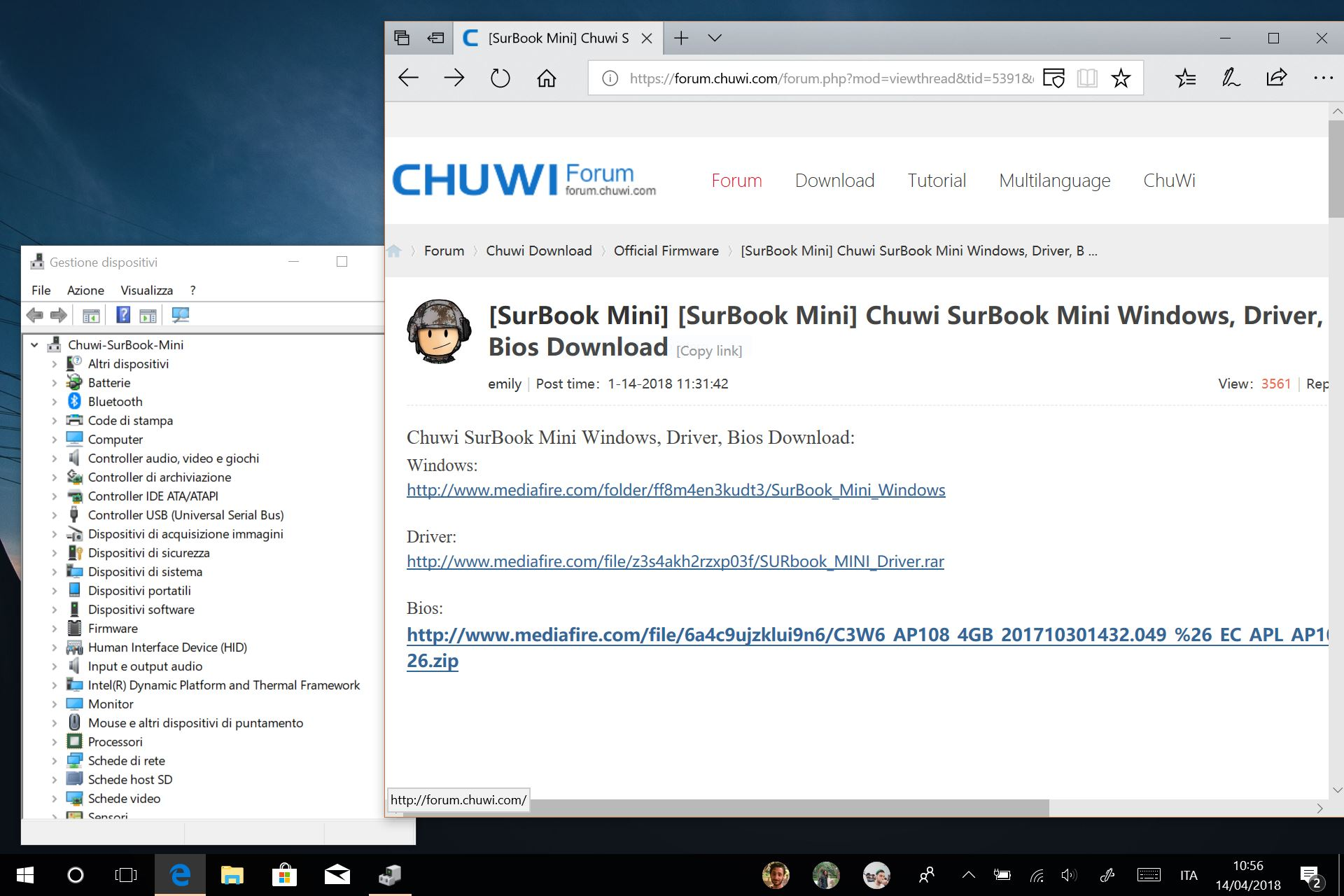 Chuwi SurBook Mini driver