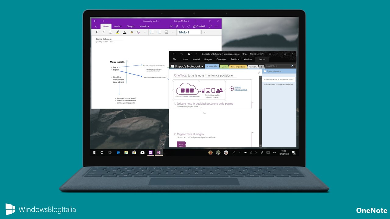 OneNote app Windows 10 OneNote 2016 Office 2019