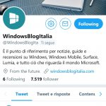 Twitter WBI PWA web app Windows 10 Mobile