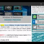 Xbox One Windows 10 Spring Creators Update Microsoft Edge lettura ad alta voce