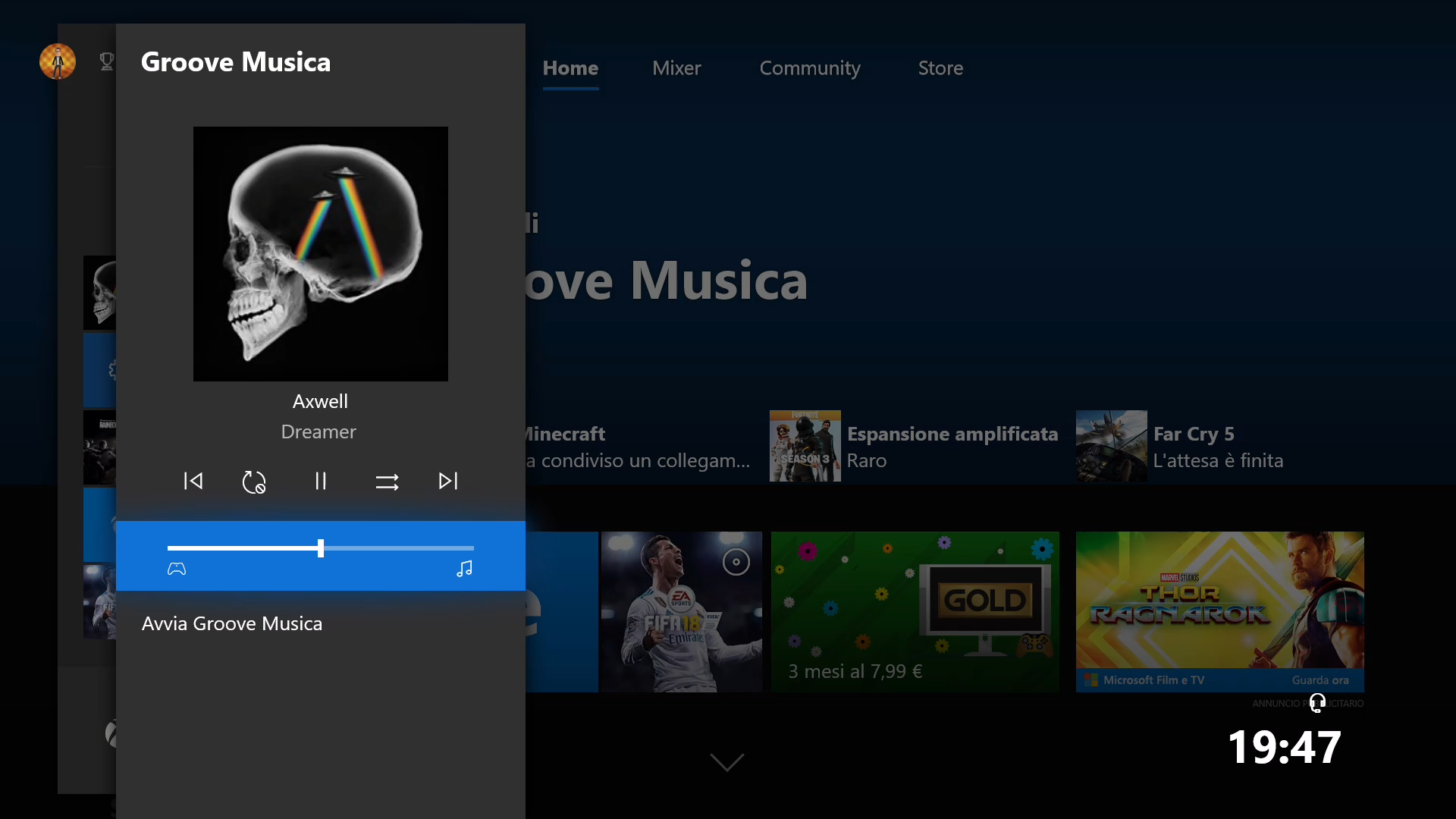 Xbox One Windows 10 Spring Creators Update controllo audio