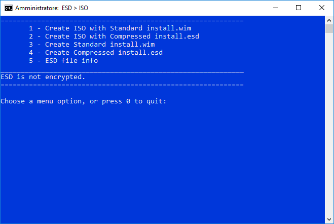 Creare ISO Spring Creators Update ESD Decrypter 2