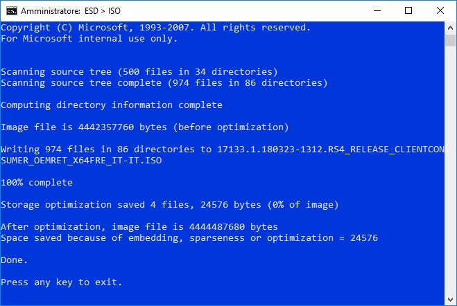 Creare ISO Spring Creators Update ESD Decrypter 3