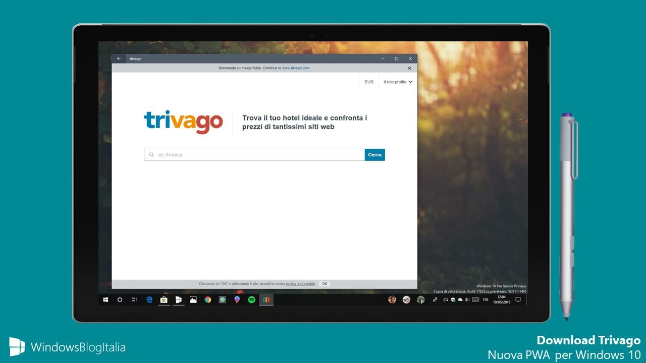 Download Trivago PWA Windows 10