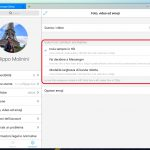 Messenger impostazioni foto video HD