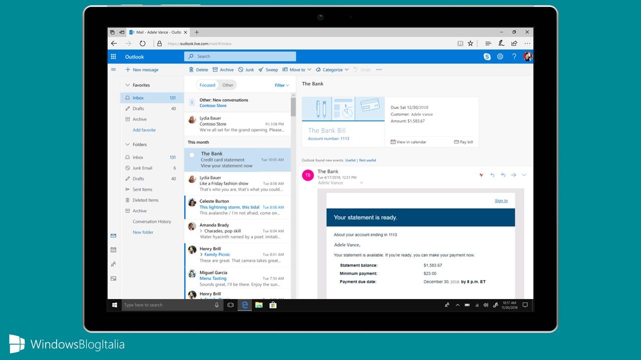Outlook maggio 2018