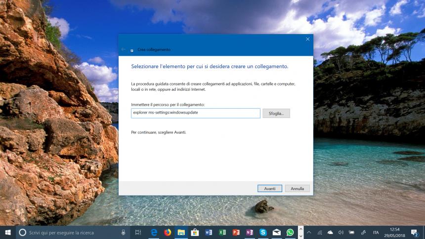 collegamento windows update