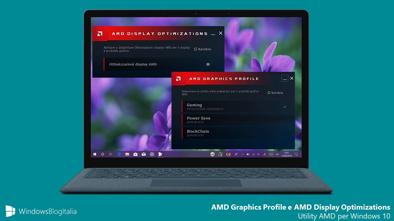 AMD Graphics Profile AMD Display Optimizations app Windows 10 Microsoft Store