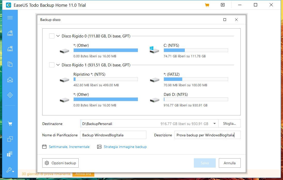 EaseUS Todo Backup Home 11.0 backup disco