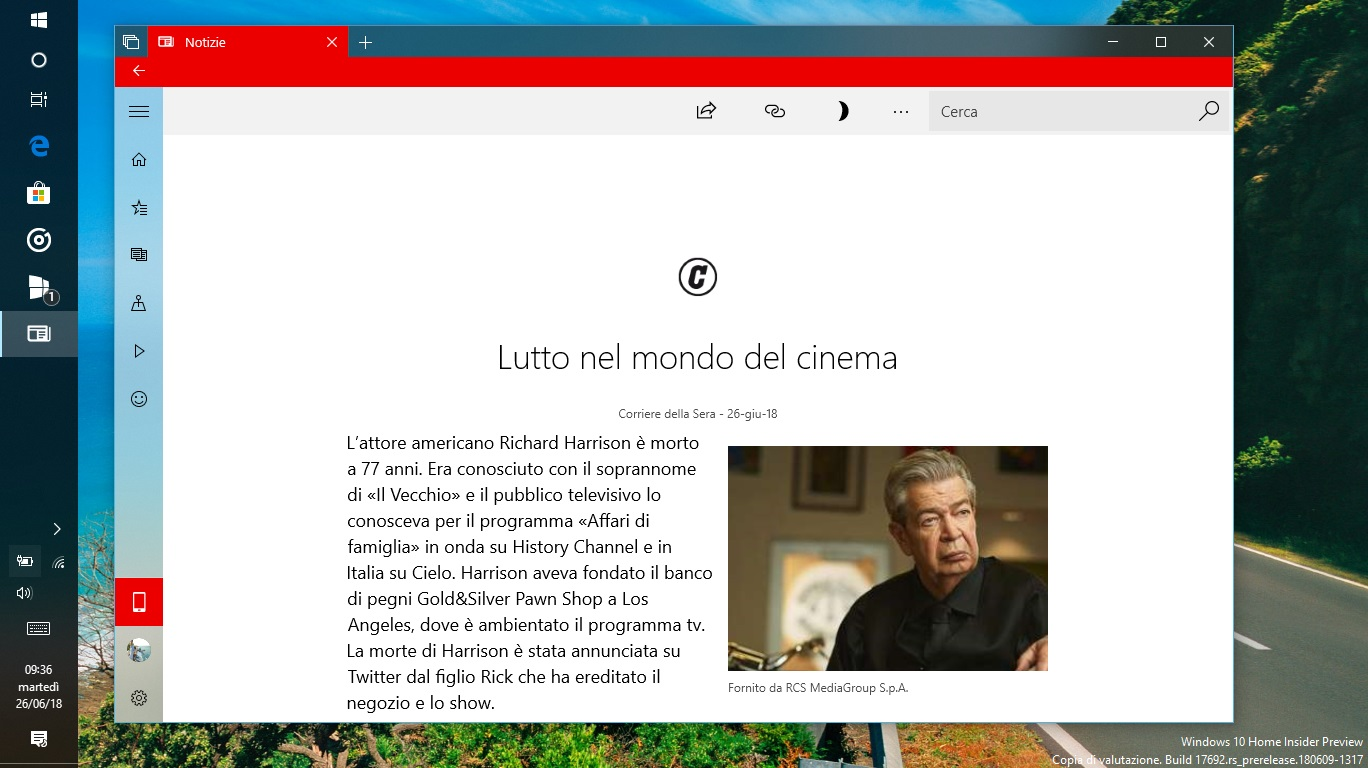 Microsoft Notizie Windows 10 articolo