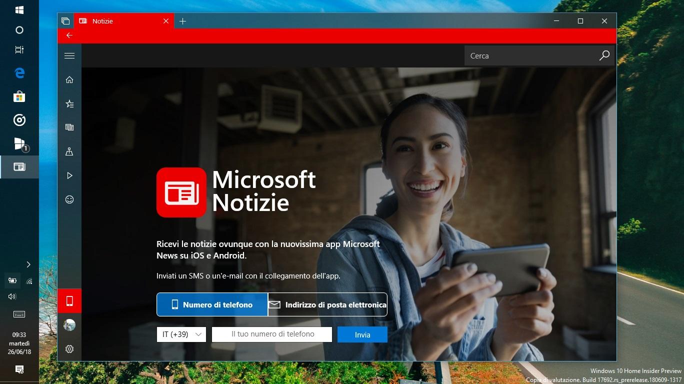 Microsoft Notizie Windows 10 download app Android iOS