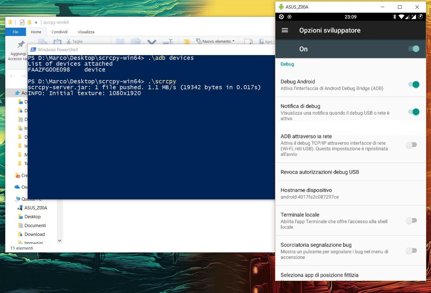 Scrcpy controllare Android da PC