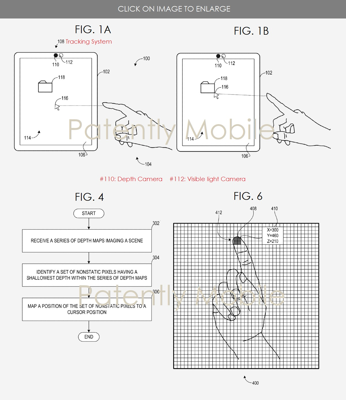 Microsoft patent touchless interaction