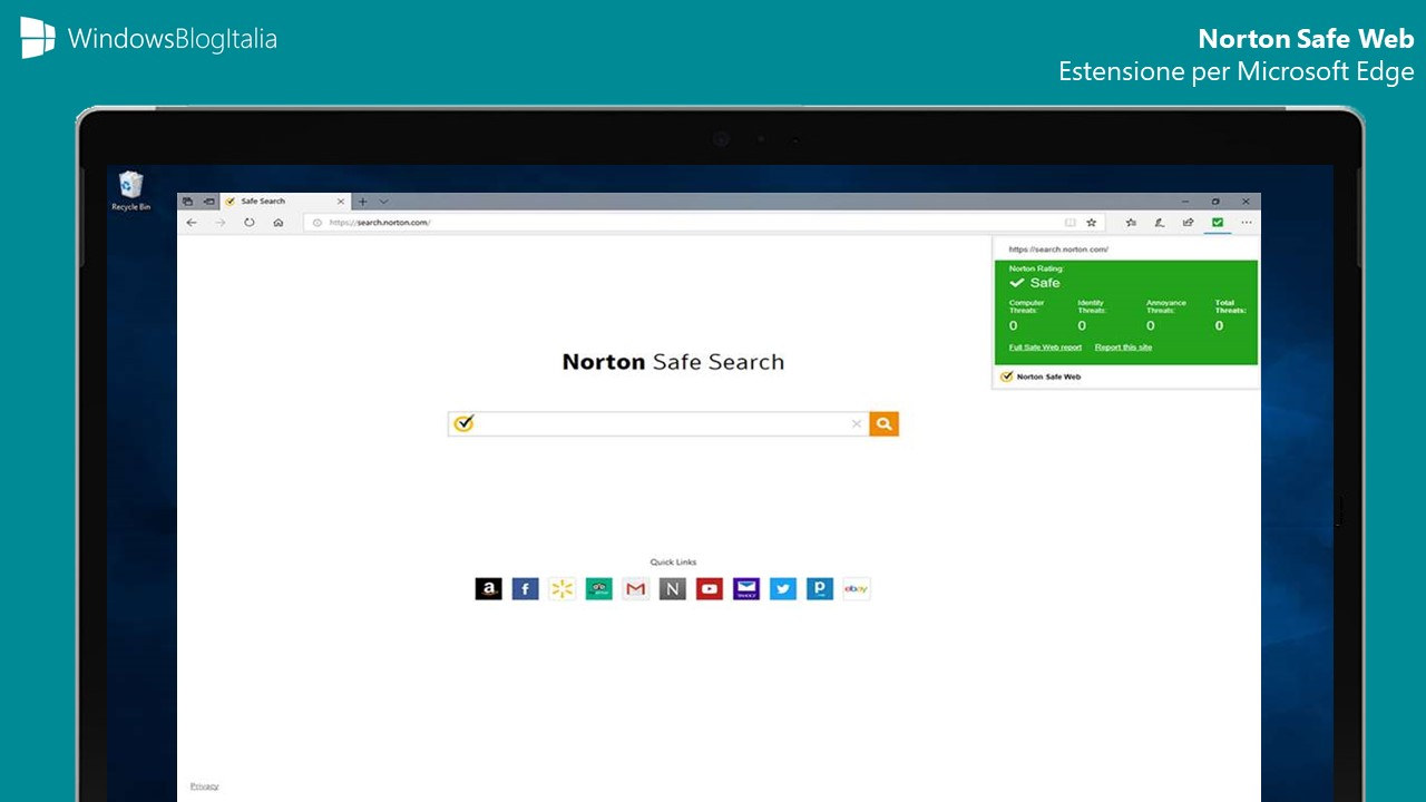 Estensione Norton Safe Web Microsoft Edge