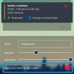 Microsoft Launcher Android effetto sfocatura tutti gli screen