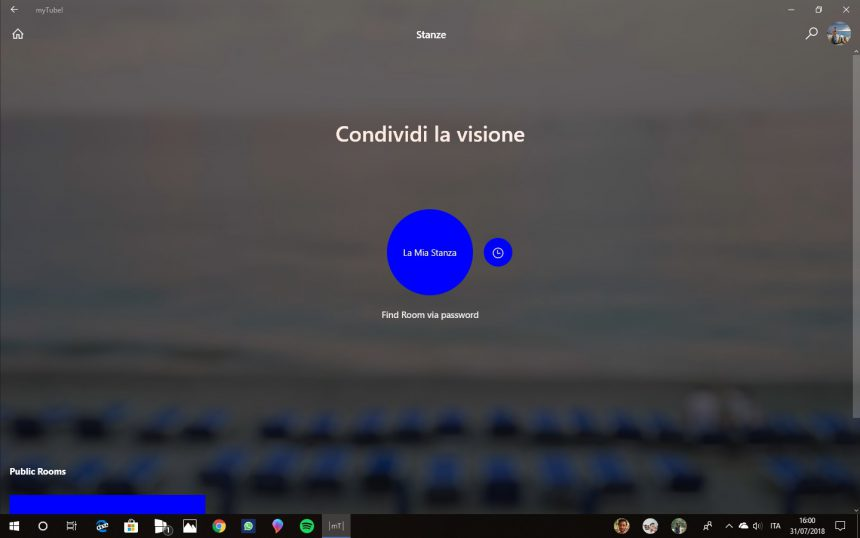 myTube! stanze Rooms (beta) Windows 10
