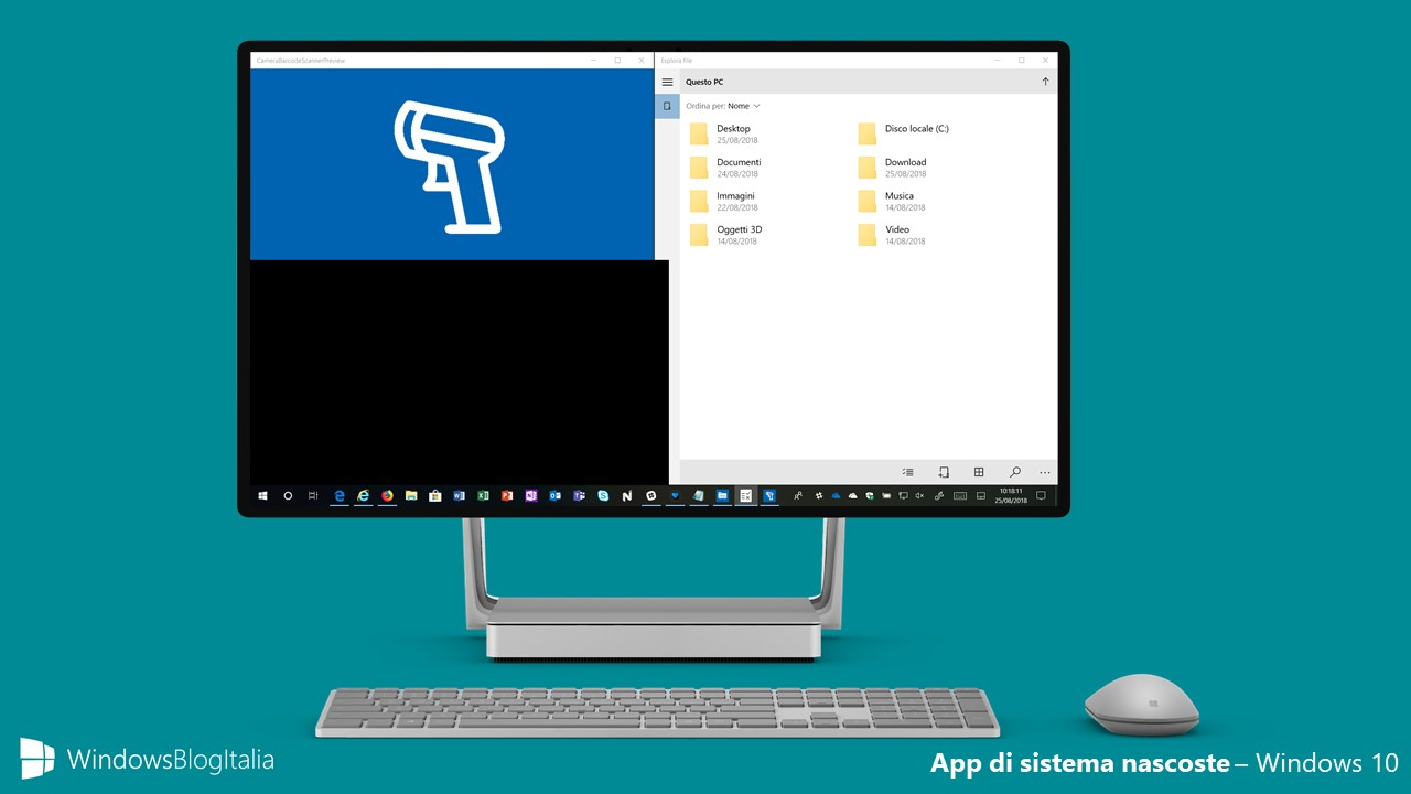 App di sistema nascoste Windows 10