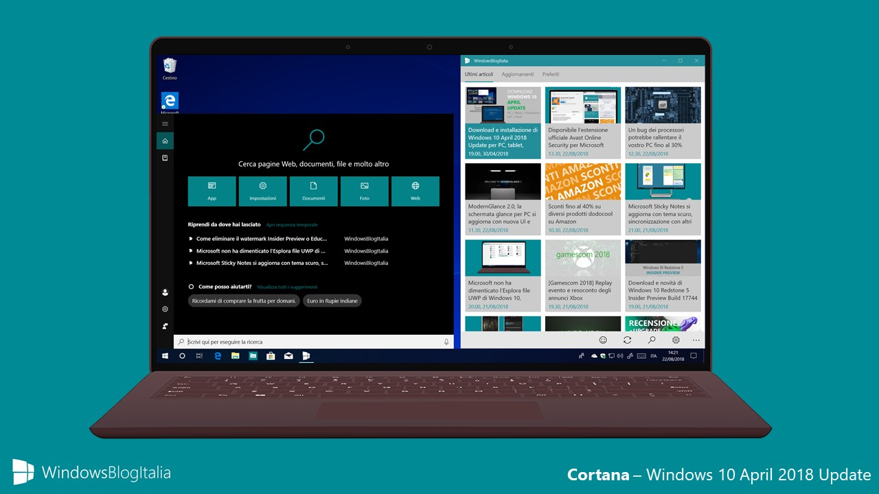 Cortana - Windows 10 April 2018 Update