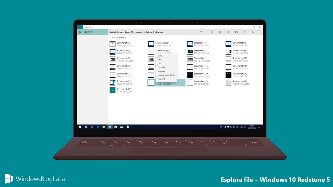 Esplora file UWP - Windows 10 Redstone 5