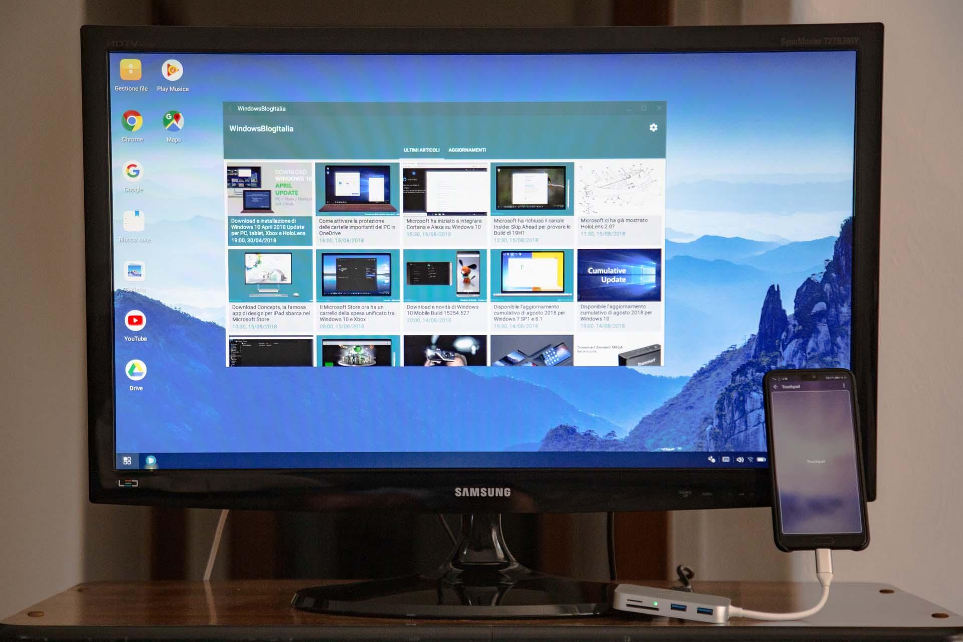 Huawei P20 TV desktop mirror