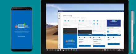 Il tuo telefono (Your Phone) sincronizzazione immagini foto Android PC Windows 10