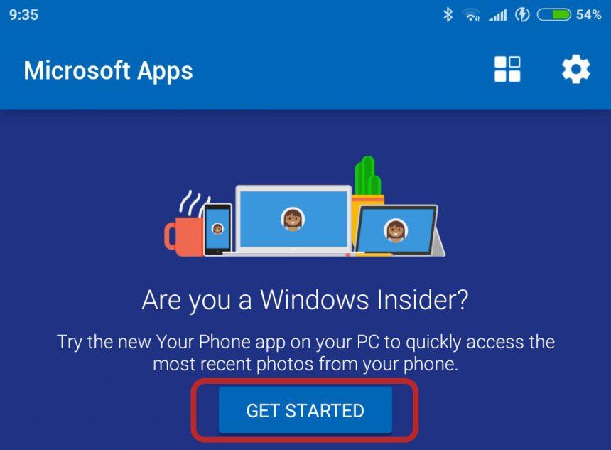 Microsoft Apps Android sincronizzazione Il tuo telefono PC 1