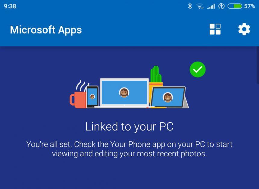 Microsoft Apps Android sincronizzazione Il tuo telefono PC 4