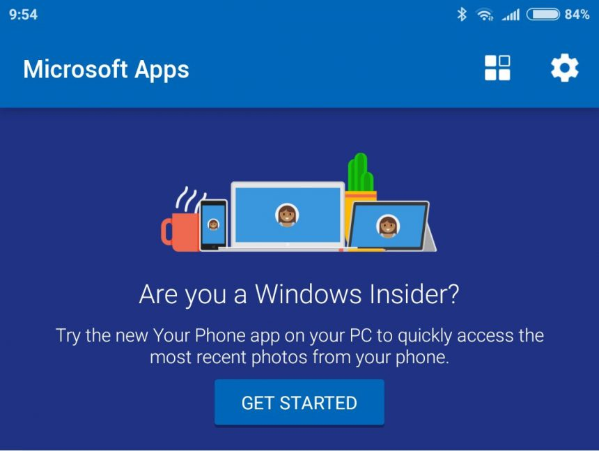 Microsoft Apps per Android sincronizzazione foto Your Phone