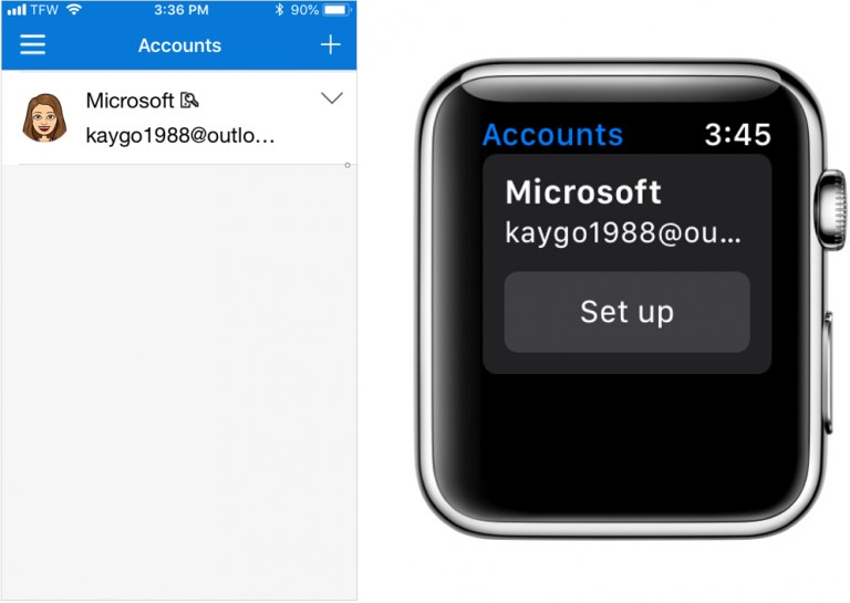 Microsoft Authenticator app Apple Watch setup