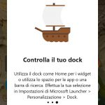 Microsoft Launcher 4.12 dock personalizzazione
