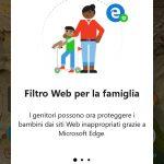 Microsoft Launcher 4.12 filtro web famiglia