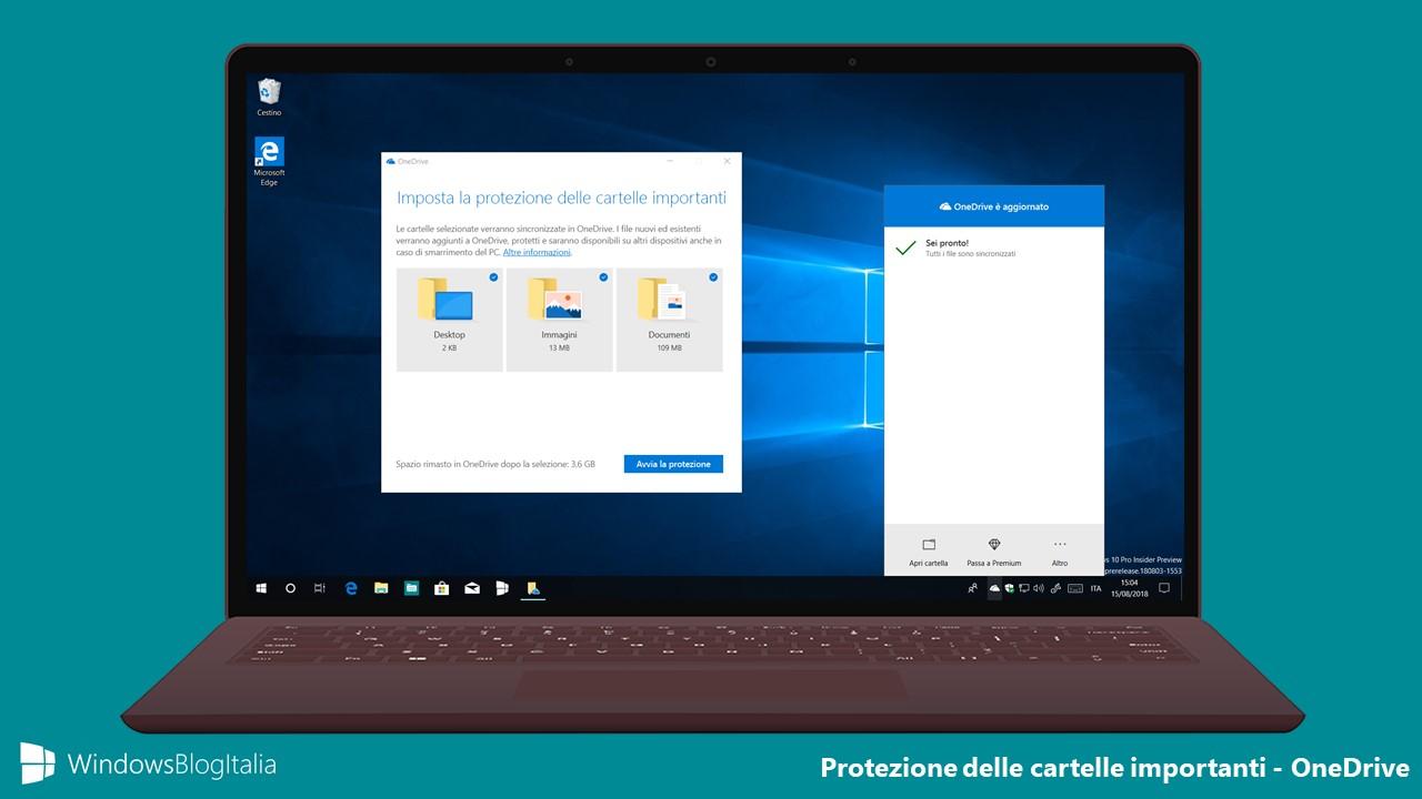Protezione cartelle importanti - OneDrive