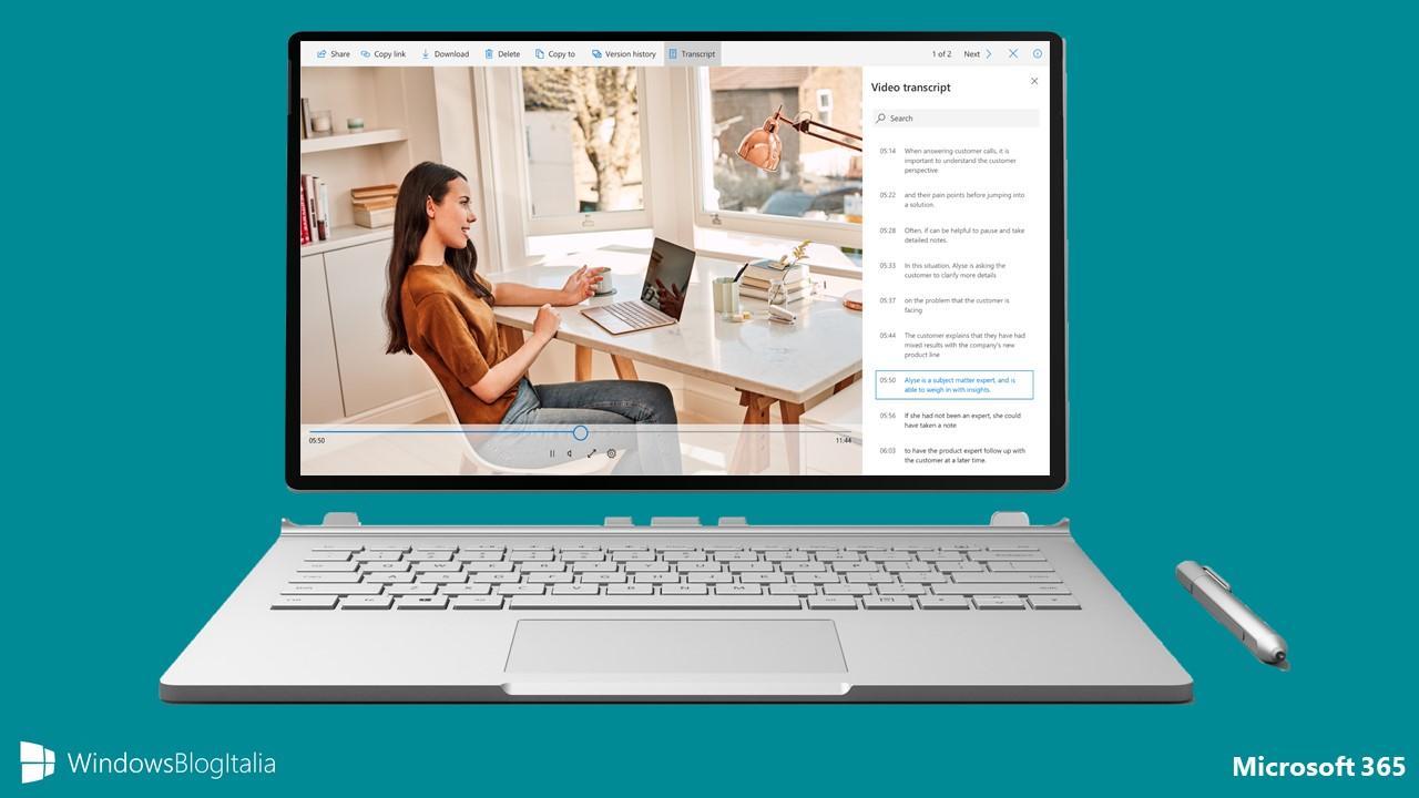 Trascrizione dei vostri file audio e video in arrivo in OneDrive