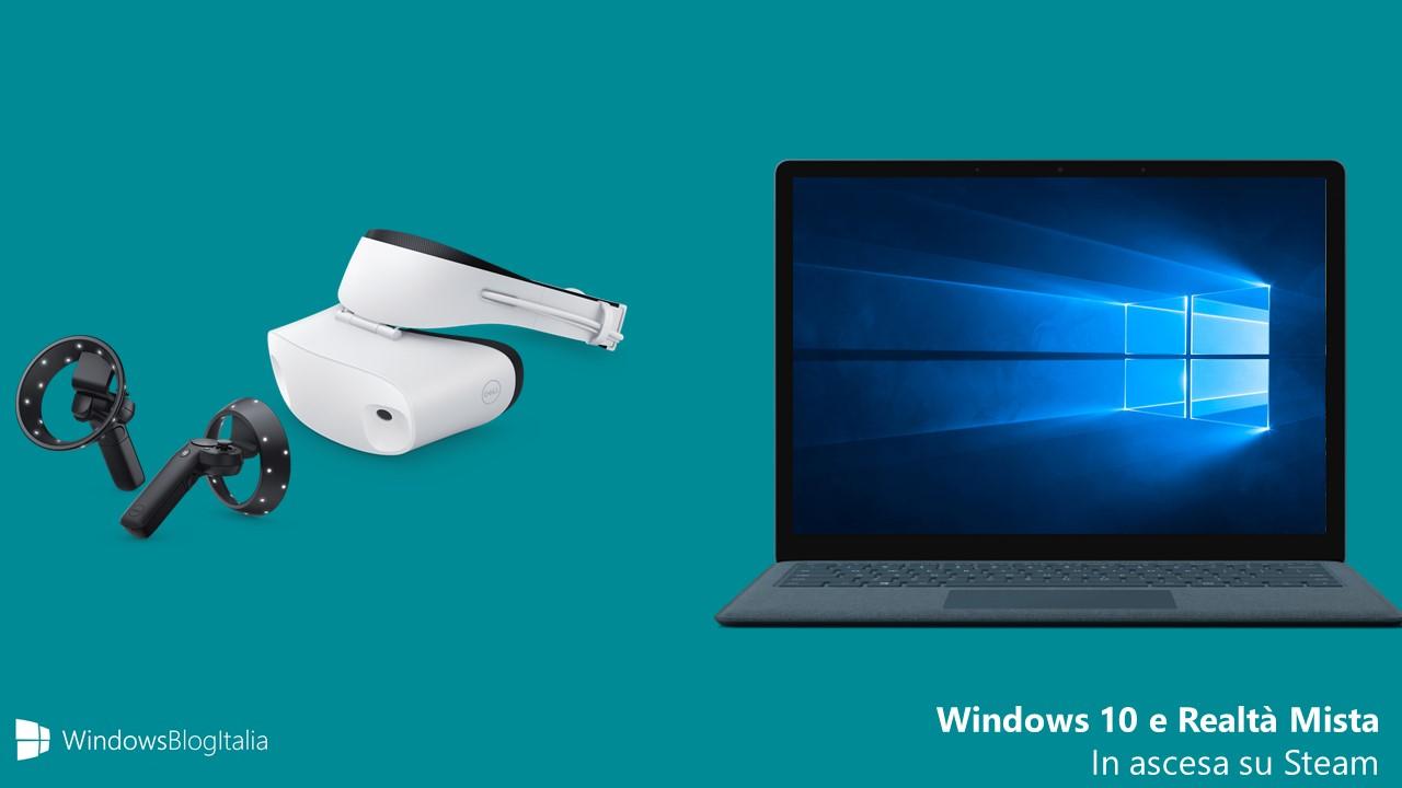 Windows 10 dispositivi Realta Mista Windows Mixed Reality