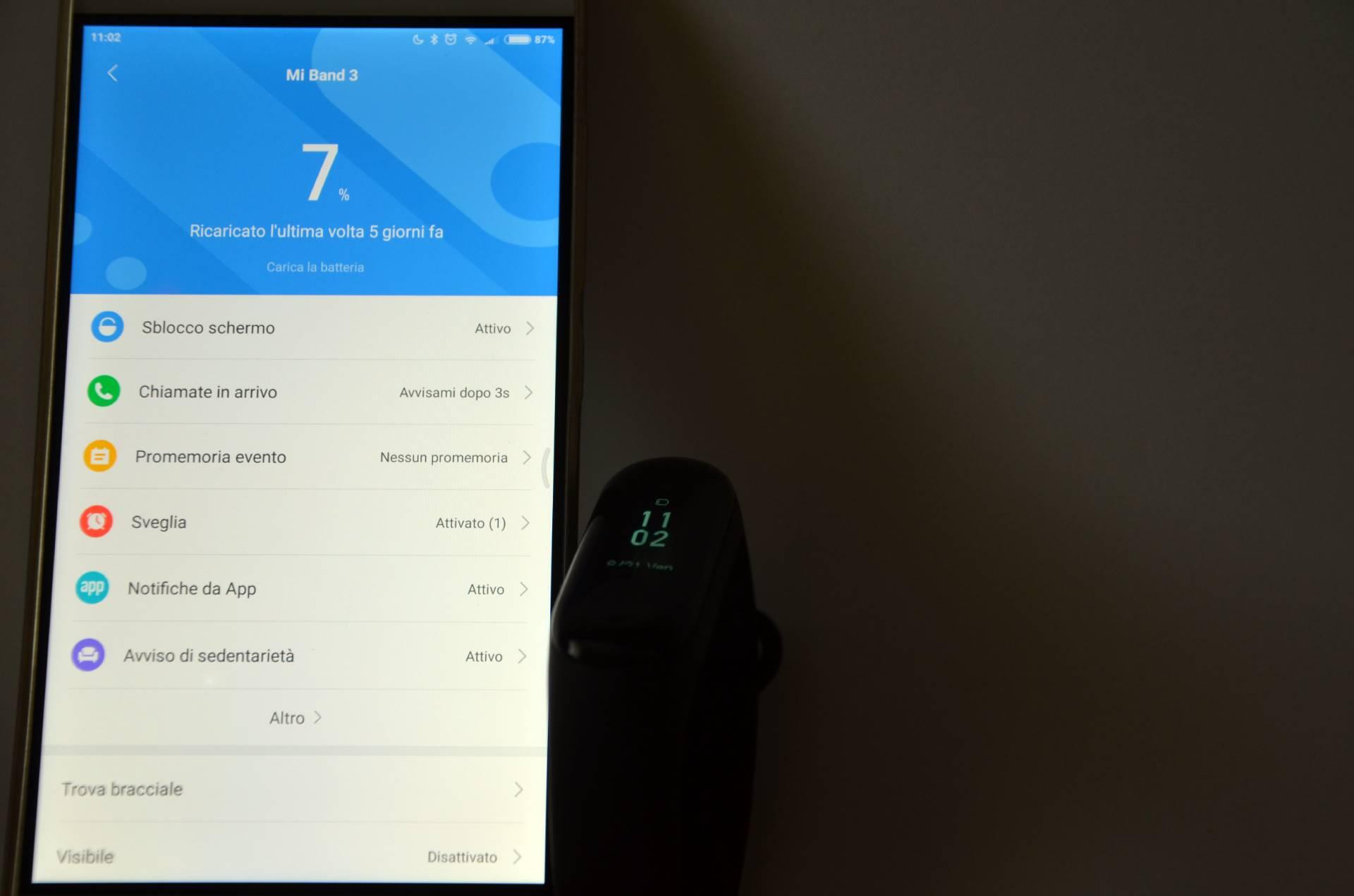 Xiaomi Mi Band 3 app Mi Fit