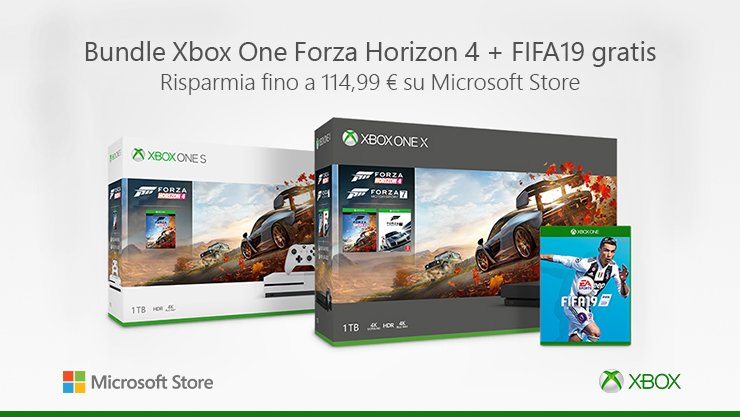 Bundle Xbox One Forza Horizon 4 FIFA 19