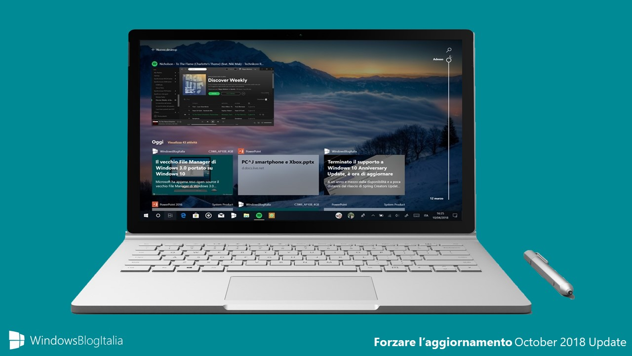Forzare l'aggiornamento a Windows 10 October 2018 Update