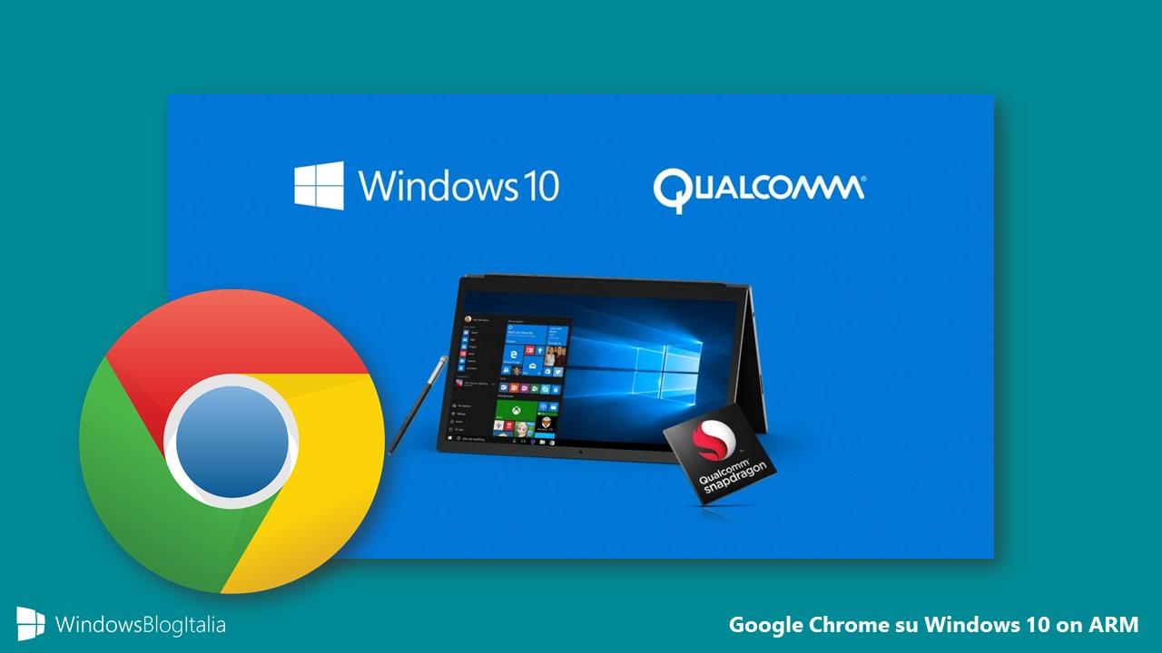 Google Chrome Windows 10 on ARM