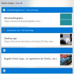 Microsoft Launcher schermata Timeline Sequenza temporale