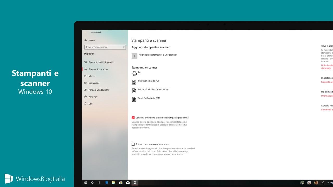 Stampanti scanner Windows 10