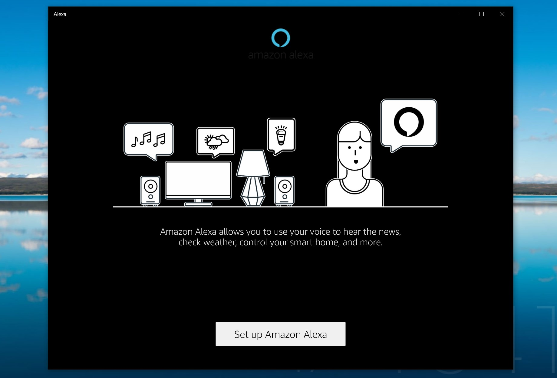 Amazon Alexa Windows 10 app ufficiale