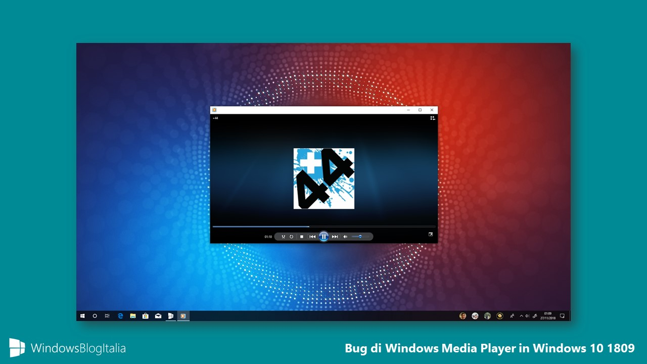 Bug Windows Media Player Windows 10 1809 October 2018 Update